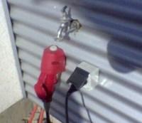 Stromanschluss direkt unter Wasserhahn
