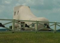 Haus in Form eines Schuhs