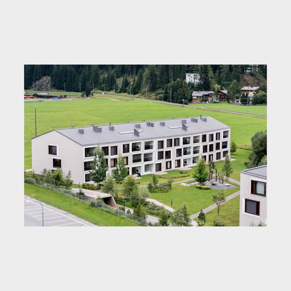 Architekturfotografie Wohnanlage Seepromenade Davos
