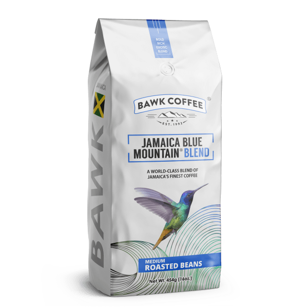 BAWK Coffee Jamaica Blue Mountain Coffee (Blend) 16oz Roasted Beans