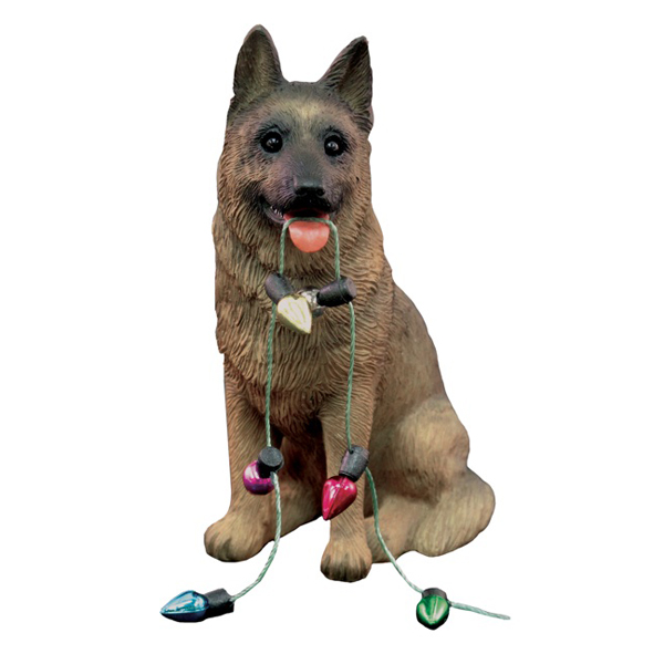 German Shepherd With Lights Christmas Ornament BaxterBoo