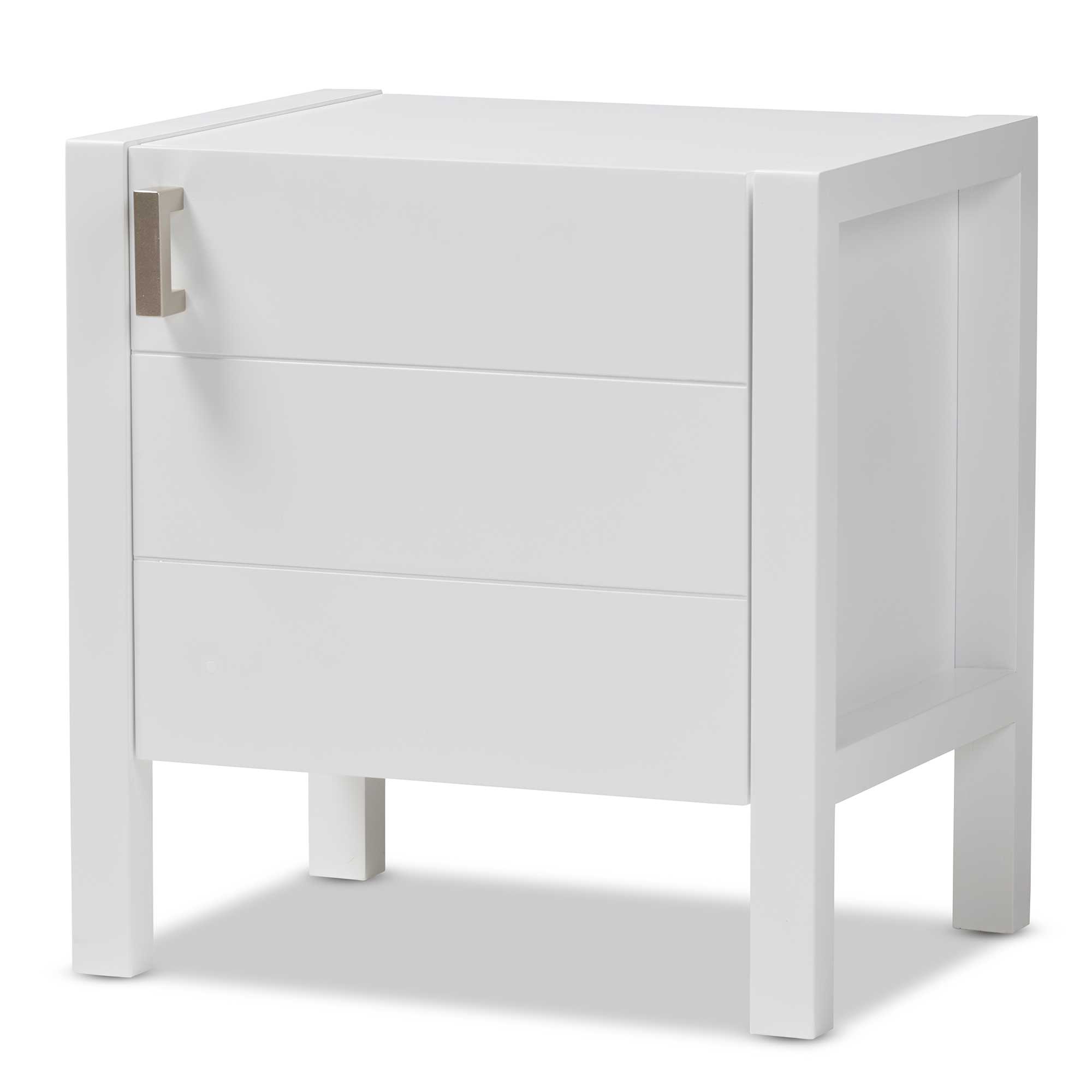 Baxton Studio Mandel Modern And Contemporary White Wood