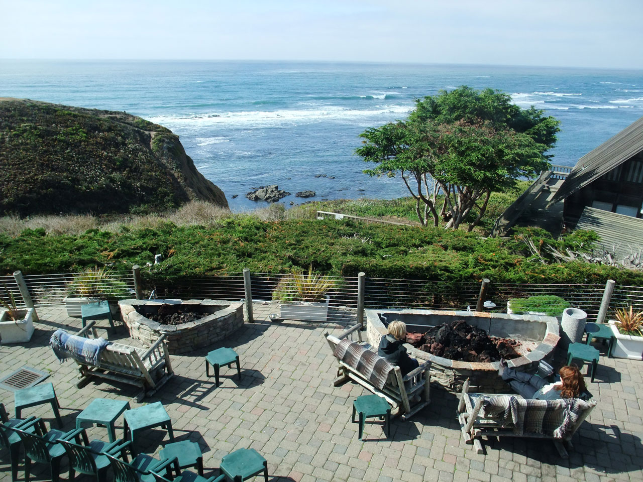 You'll be overlooking the ocean with your pup at Moss Beach Distillery.