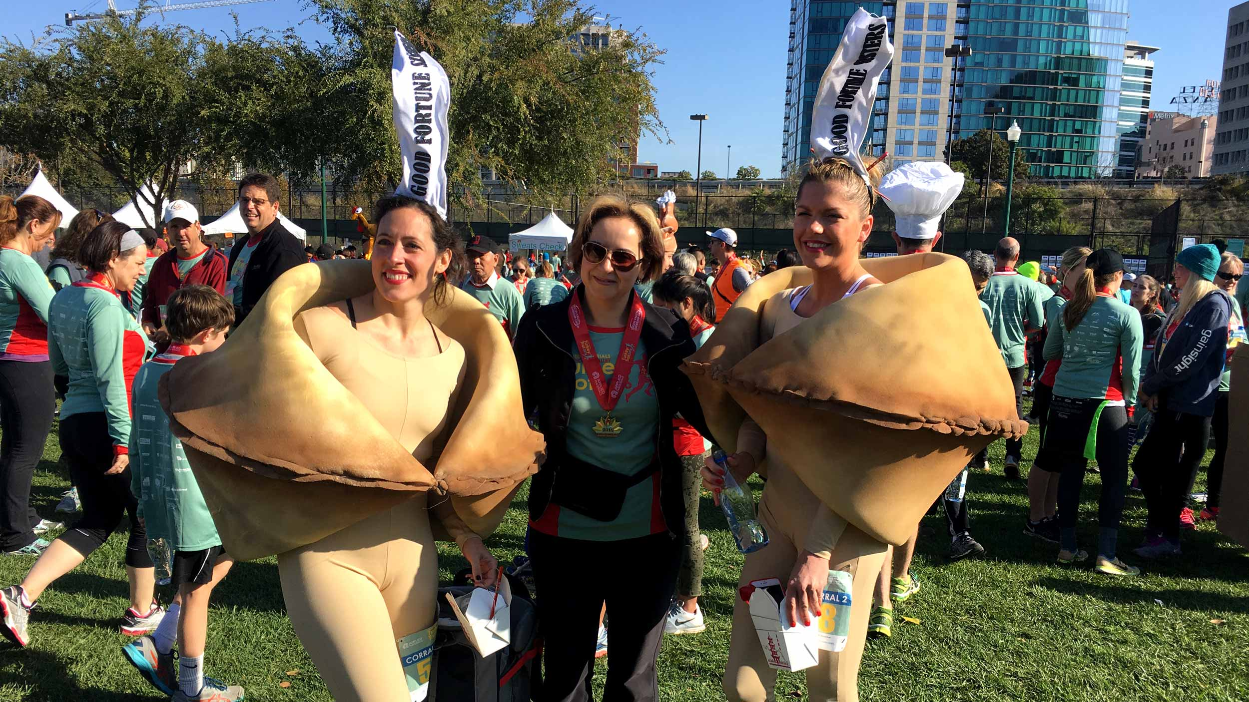 fortune cookie costumes at the Silicon Valley Turkey Trot