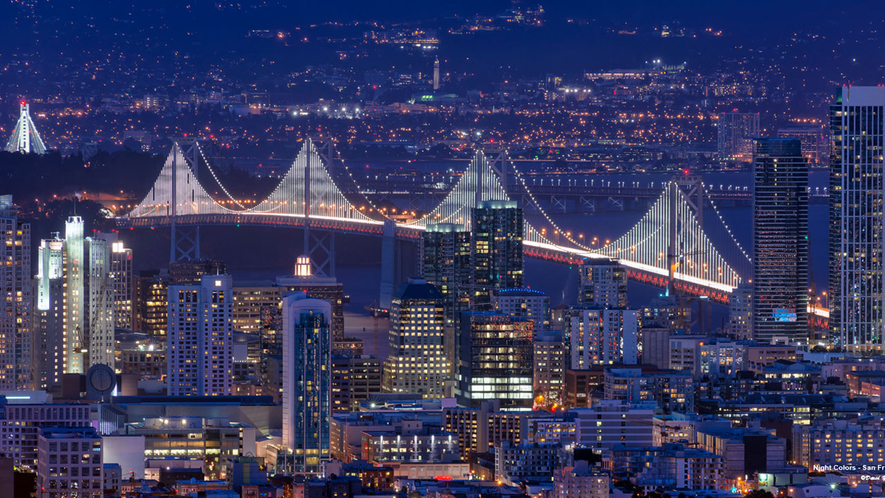 Check out the Bay Lights in San Francisco on the winter solstice