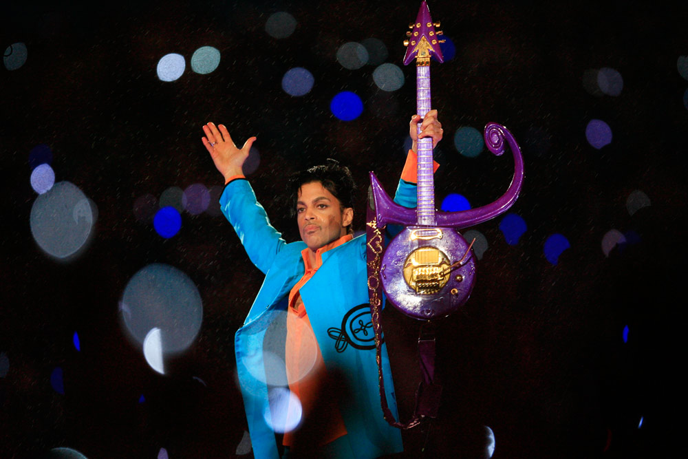 Prince at a concert.