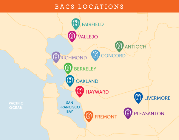 BACS location map 2019