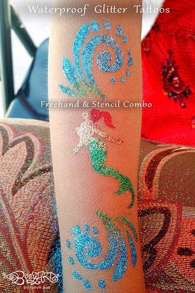 Bay Area Face Painters Waterproof Glitter Tattoos