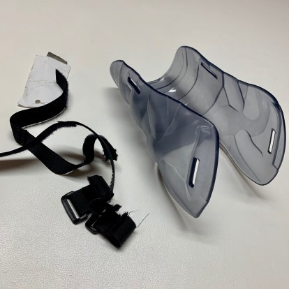 BAHR Ice Roller Hockey Skate Shot Blockers Replacement Straps Sold in pairs