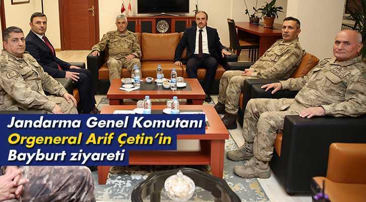 Jandarma Genel Komutanı Orgeneral Arif Çetin'in Bayburt Ziyareti