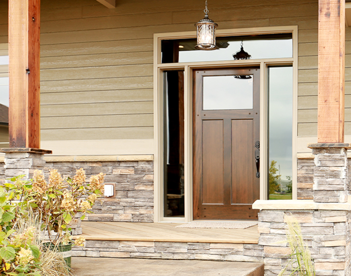 Exterior French Doors Transom Window