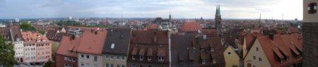 Burgblick: Ausblick von der Kaiserburg auf die Nürnberger Altstadt