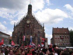 Pokalsieger 1.FC Nürnberg Empfang am Hauptmarkt
