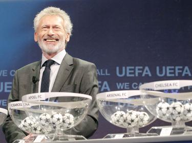 Paul Breitner at the UEFA Champions League 2011/2012 last 16 draws