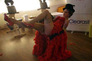 Die Bulesque-Tänzerin: Einigen wäre ein männlicher Tänzer lieber gewesen :)