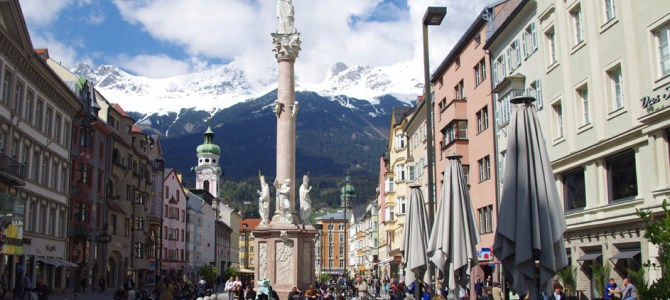 Spaziergang durch das schöne Innsbruck