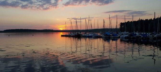 Sonnenuntergang am Rothsee (Mittelfranken)