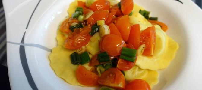 Vegetarische Ravioli für Faule