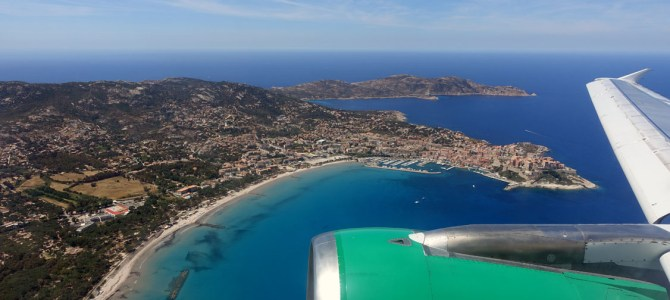 Anflug auf Calvi, Korsika