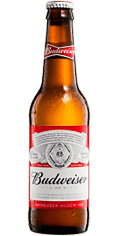 Budweiser Beer stubby 355ml