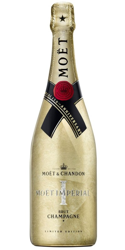 Moet & Chandon 150 Aninversary Gold Gottle