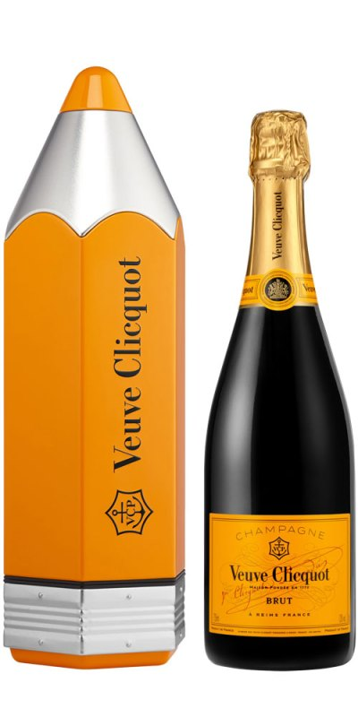 Veuve Clicquot Yellow Label NV with Pencil Keepsake Tin 750ml