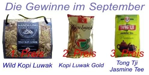 Die Gewinne im September 2010