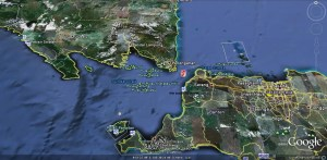 Lage unseres Badeortes Grafik: Google Earth
