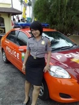 Indonesische Polizistin