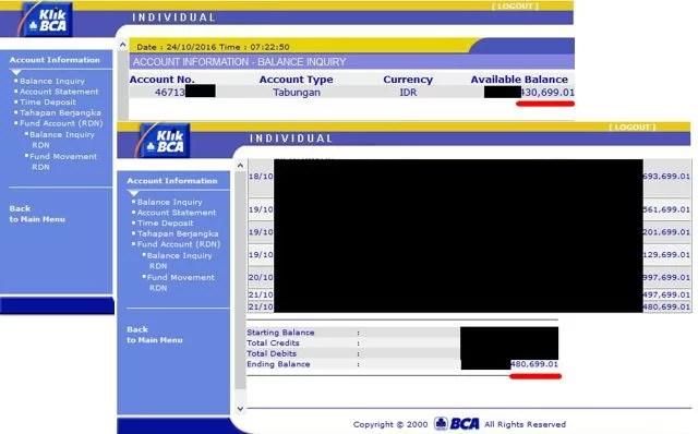 Warum habe ich immer 50.000 Rp weniger auf meinem Bankkonto