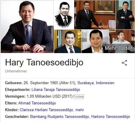 Indonesischer Unternehmer will Präsident werden / Screenshot Google