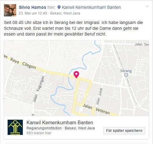 Meine KITAP Verlängerung #3 / Screenshot Facebook Mitteilung von mir