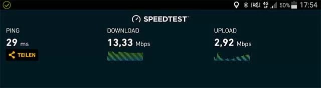 Speedtest Handytarif XL 4G 11.06.2017 BSD-City