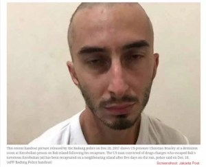 Flüchtiger Amerikaner wieder in Haft / Screenshot Jakarta Post