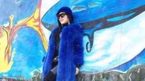 Indonesische Sängerin Syahrini vor der Berliner Mauer / Foto: Instagram