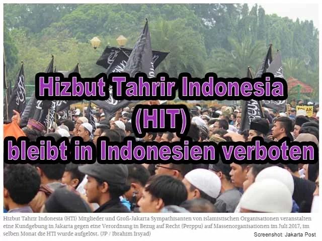 Hizbut Tahrir bleibt in Indonesien verboten / Screenshot: Jakarta Post