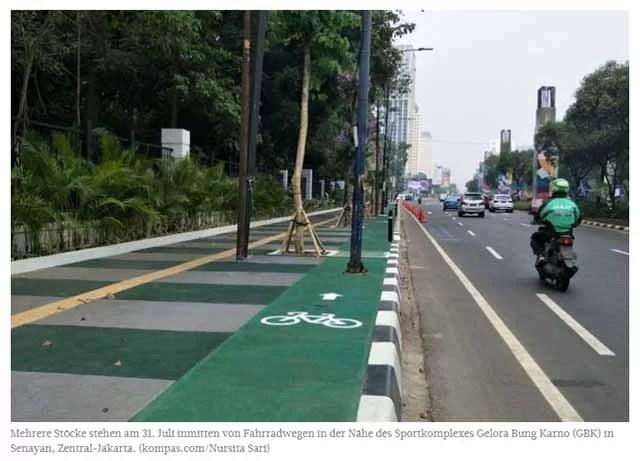 Neugebauter  Fahrradweg in Jakarta / Foto Jakarta Post
