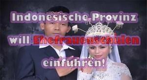 """Indonesische Kommunalpolitik schlägt """"Ehefrauenschulen"""" vor"""