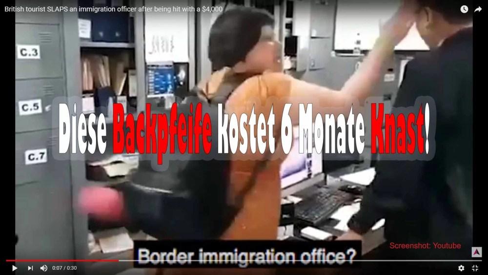 Sechs Monate Haft für Backpfeife / Screenshot: Youtube