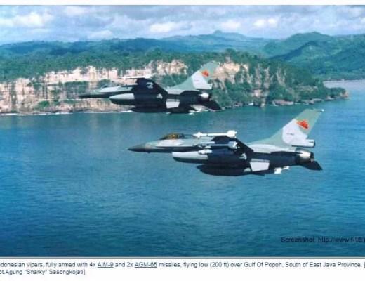 Indonesische Luftwaffe weckt Menschen zum Fastenmonat / Screenshot:: http://www.f-16.net