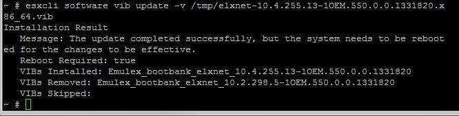 Emulex Update
