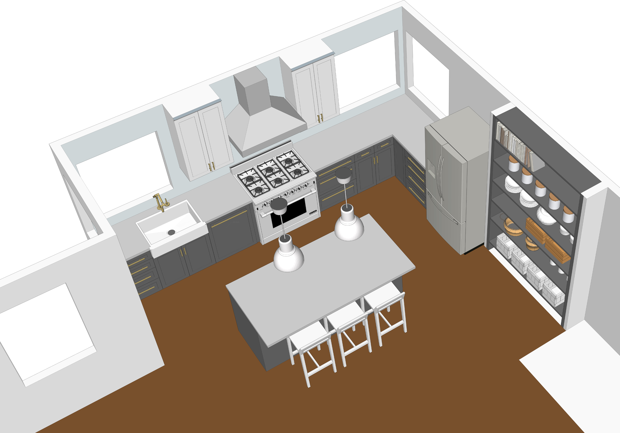Using Google Sketchup To Design A Kitchen Bay On A Budget