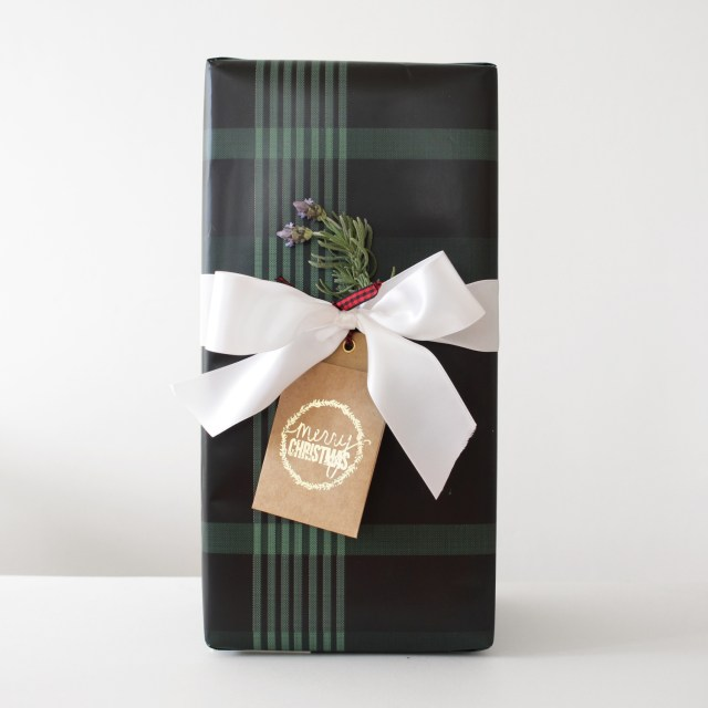 Gift wrap with plant