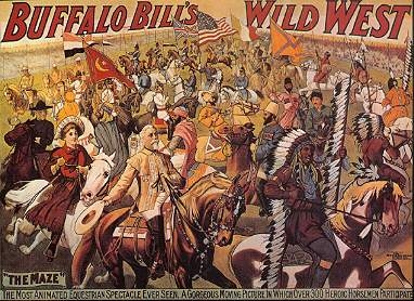 Affiche du Wild West Show de Buffalo Bill
