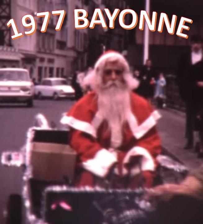 1977 Le Père Noël arrive à Bayonne !
