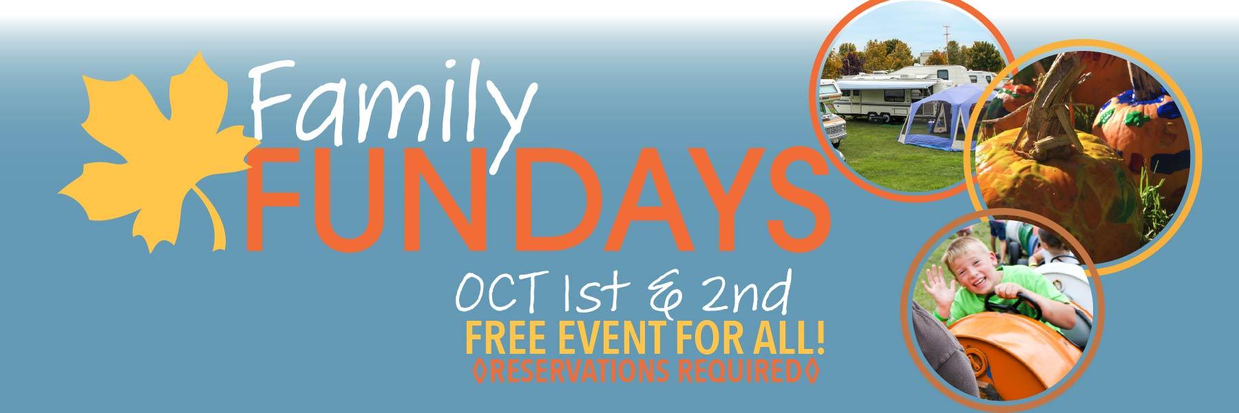 Fall Family Fun Days Fall 21