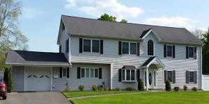 Finished home vinyl siding