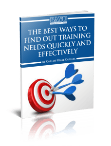 The Best Ways To Find Out Training Needs Quickly and Effectively eBook