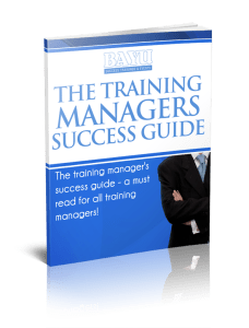 The training managers success guide ebook cover