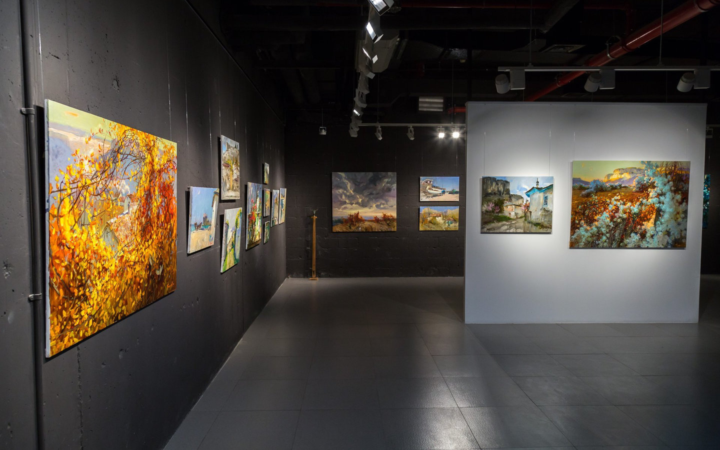 Artworks displayed in N2N Gallery in Abu Dhabi